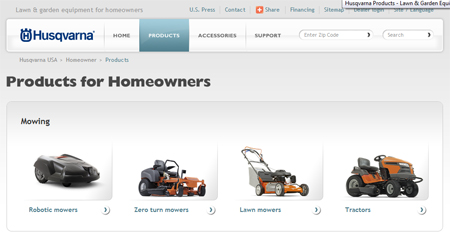 husqvarna lawn mowers and equipment